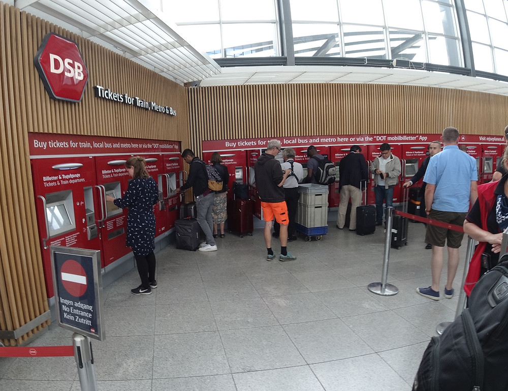 DSB Ticket Station in Copenhagen Airport