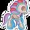 Thumbnail: Pegatina Ponny huesos