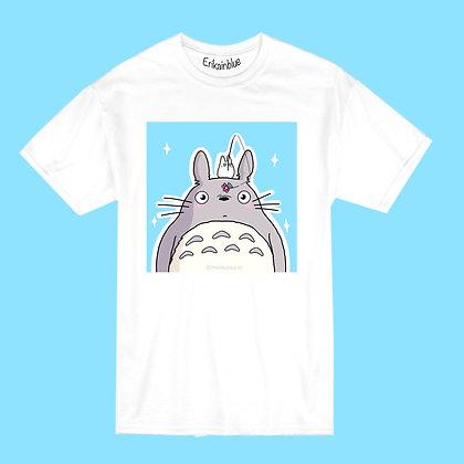 Camiseta totoro flor