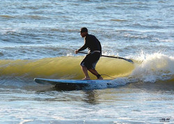 Our buddy Tarek enjoying his new _rivierapaddlesurf (that he bought from us) in Galveston this morni