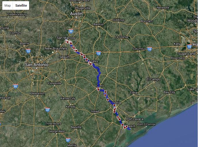 Texas Water Safari Course Map