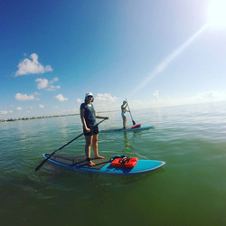 We were able to paddle out 1.5 miles out to the buoy