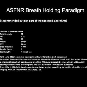 Breath Hold Paradigm