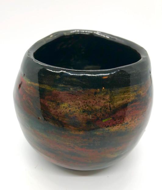 Earth Tone Triangle Vase