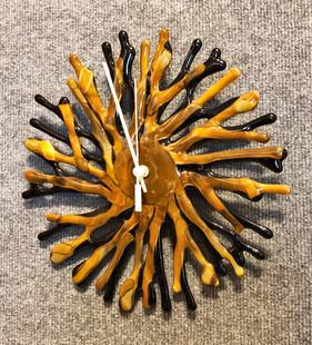 Brown Coral Clock