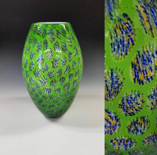 Lime Green Murrini Vase