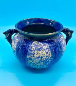 Blue Bow Wave Medium Dolphin Bowl