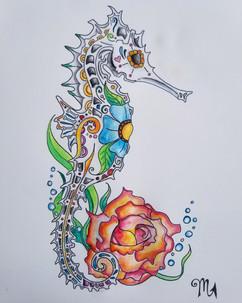 Sugar Skull Seahorse