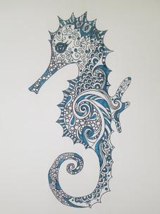 Ocean Waves Seahorse