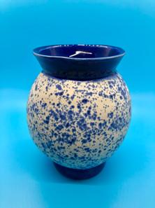 Blue Bow Wave Sphere Vase