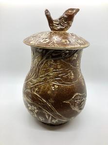 Golden Wren Jar