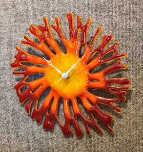 Red Coral Clock
