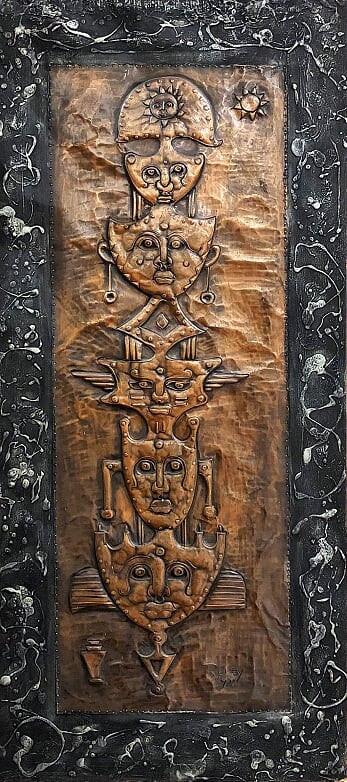 Totem Masks The Master of Copper Tooling