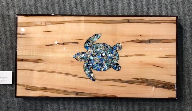 Charcuterie Board - Crushed Shell Sea Turtle