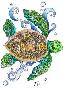 Zentangle Sea Turtle