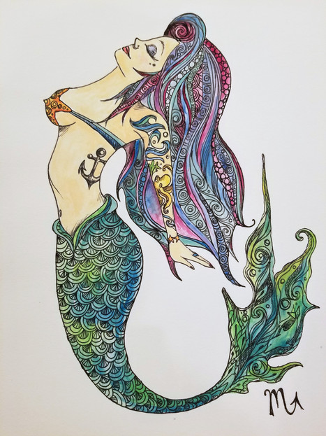 Rockabilly Mermaid