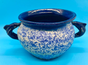 Blue Bow Wave Large Dolphin Bowl