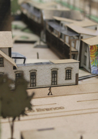 Maquete: Habitação Social como Nova Alternativa para Edificações Históricas