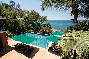 Villa Sunyata - Pool overlooking the Oce