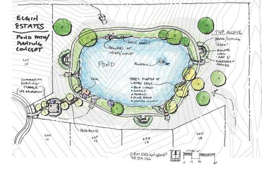 DRM_11x17 Pond Path Concept ELGIN ESTATE