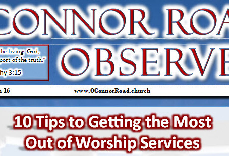 10 Tips to Getting the Most Out of Worship Services