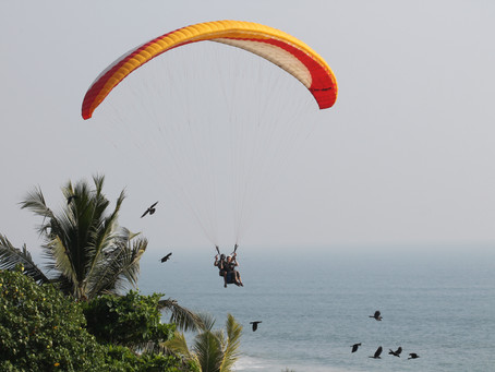 December coming, paragliding flight will start to be possible.