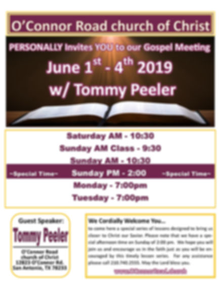 19 Spring - Tommy Peeler - OConnor Road.