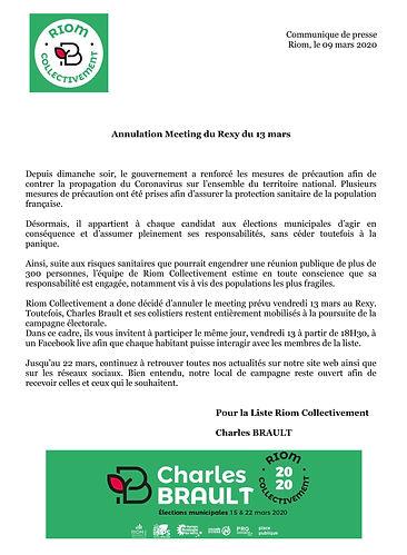 Com de Presse 9 mars - Riom Collectiveme