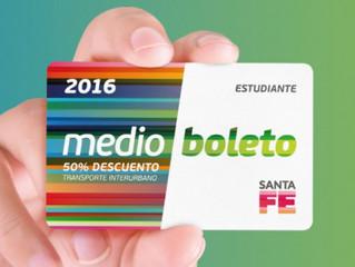 Santa Fe: Extienden la vigencia del Medio Boleto 2016
