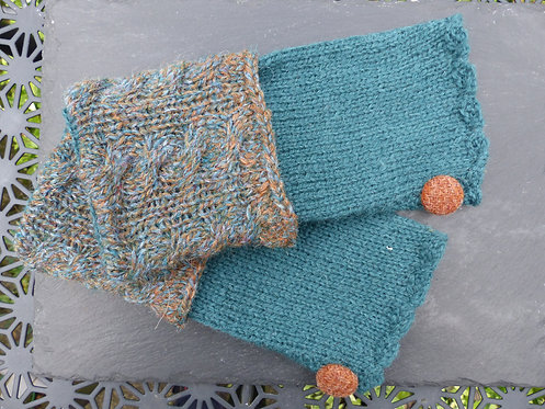 Sea Green and Multicoloured  Wrist Warmer