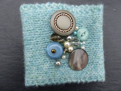 Baby Blue Beaded Knitted Cuffs