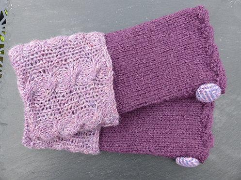 Purple and Lilac Wrist Warmer