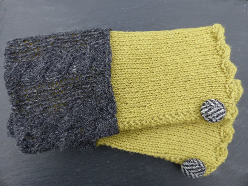 Lime and Grey Wrist Warmer