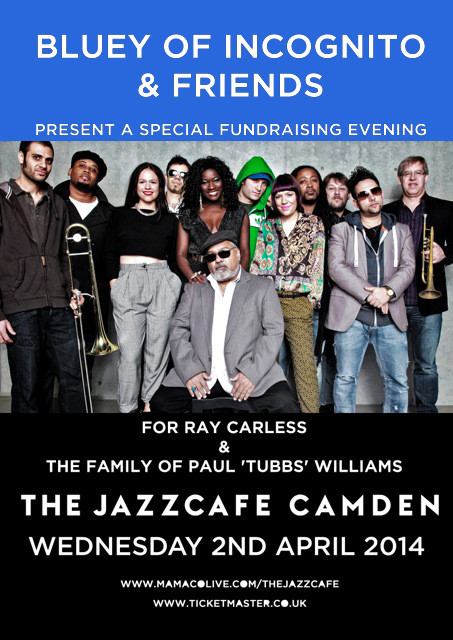 Wednesday 2nd April 2014, Special Fundraising Show featuring Bluey, Incognito, Lulu and Jocelyn Brow