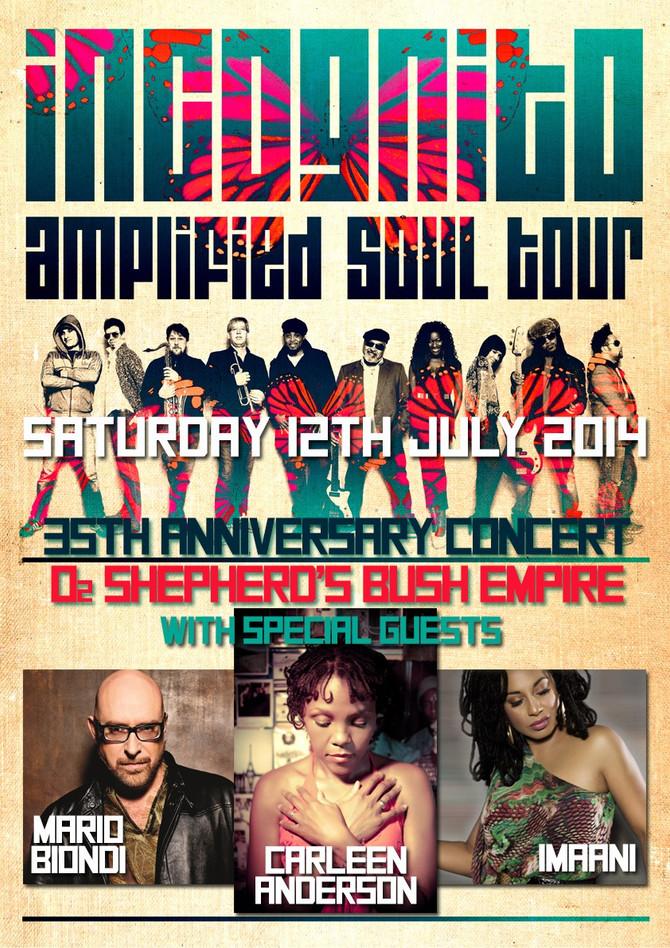 Saturday 12th July 2014, Incognito 35th anniversary concert at O2 Shepherds Bush Empire