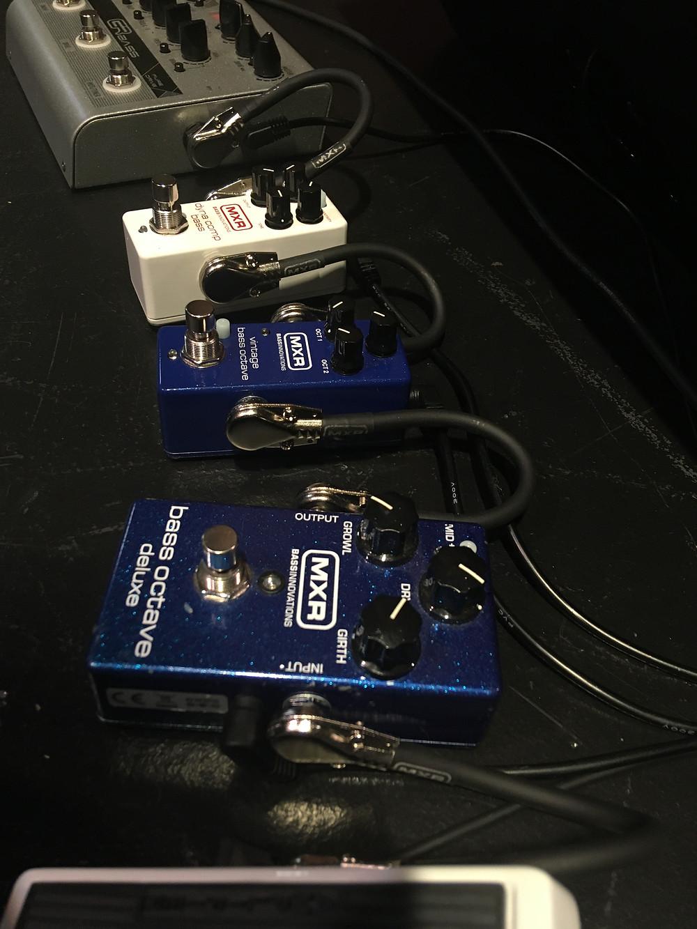 GRBass & MXR pedals