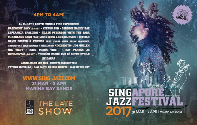 March 31st - April 2nd 2017, Batam Jazz Festival and Singapore Jazz Festival with Incognito, Ray Par