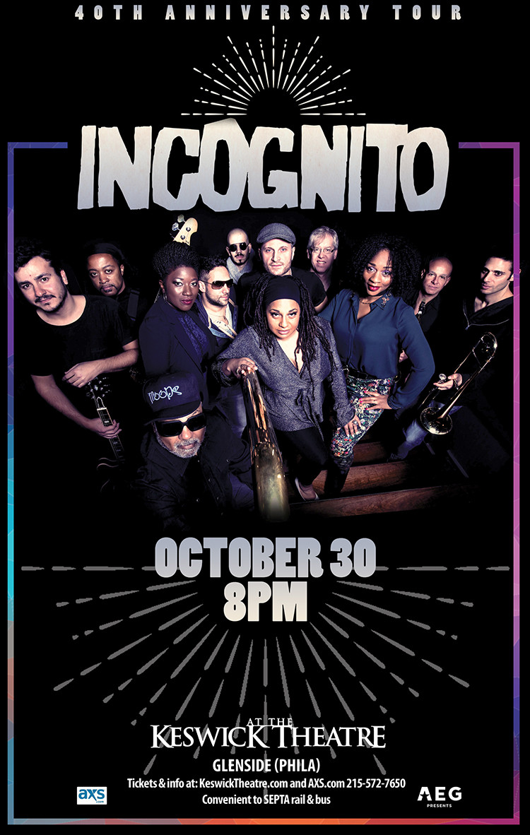 Incognito, Keswick Theatre 30th October 2019