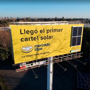 Cartel Solar Mercado Libre