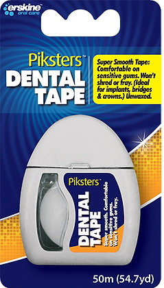 Piksters Dental Tape 50m. From $9.68ea