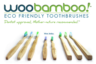 Woo Bamboo Eco Frindly Natural and Biodegradable Bamboo Toothbrushes