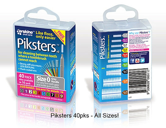 Piksters 40pk - Sizes 00-7