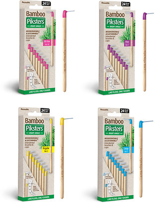 Bamboo Piksters RIGHT Angle Handle 24pks