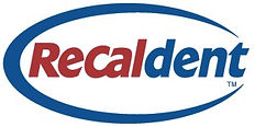 recaldent logo, recaldent chewing gum, 112pc tubs