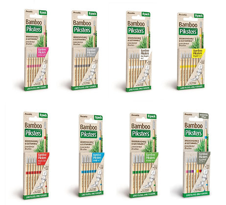 Bamboo Piksters STRAIGHT Handle 8pks