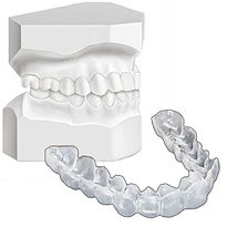 Custom Fit Teeth Whitening Trays and Models are constructed from your mouth impressions