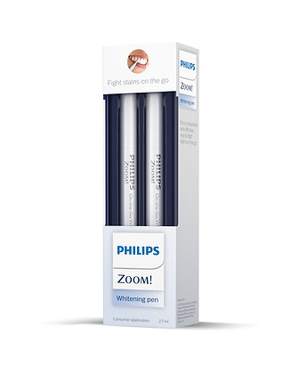 Philips Zoom! Teeth Whitening Pen 5.25% HP Twin Packs - 2x 2.7ml Pens