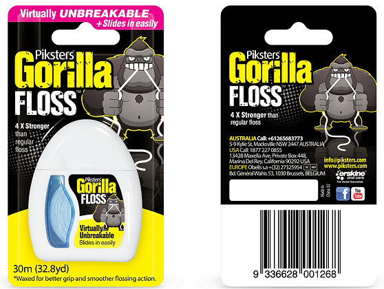 Piksters Gorilla Floss 30m. From $5.50ea