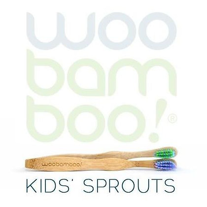 Woo Bamboo Kids Sprouts Toothbrushes Supersoft 12pk