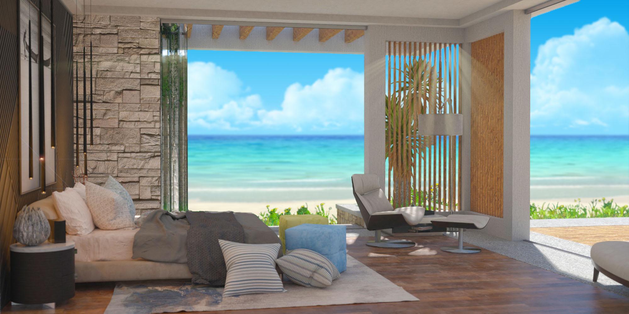 Master Bedroom Pavilion 2F ocean